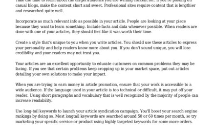 Article Syndication Advice For The New Marketer