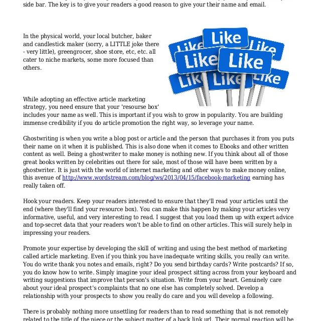 Ideas On Effective Article Promotion