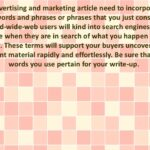 Sound Words Of Advice On Article Marketing