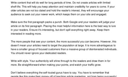 Ways To Build Traffic And Boost Your Income With Article Promotion