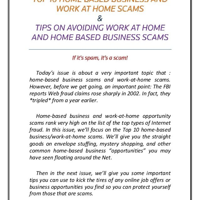 Web Home Business– Scam or an Opportunity?