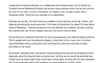 Find The Top Tips Here For Success In Internet Marketing