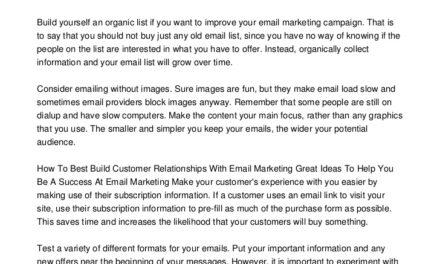 Good Info That Will Help You Become Better At Marketing With Email