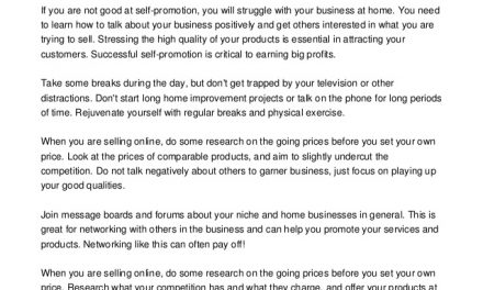 Home Based Business Strategies That Are Proven To Work