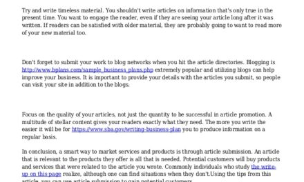 Networking Is The Key To Successful Article Submission