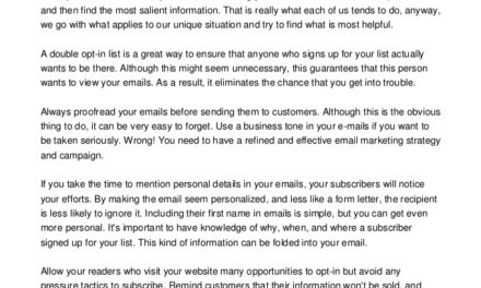 Serious Email Marketers Use These Great Tips And Tricks
