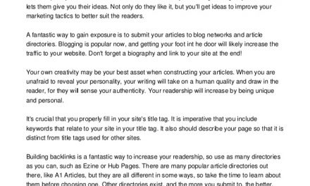Get Your Article Noticed With These Useful Suggestions.