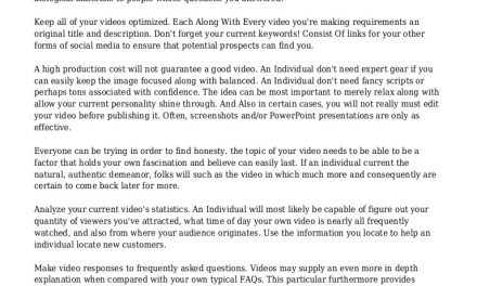 How To Achieve The Results You Want With Video Marketing