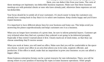 How To Effectively Run A Home Business Enterprise