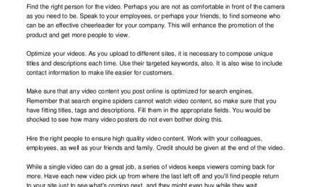 How To Run An Amazing Video Marketing Campaign