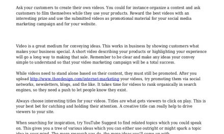 How To Succeed With Marketing Your Videos Online