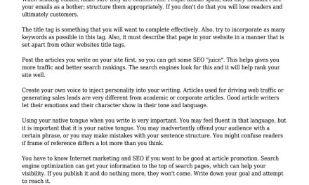 How You Can Become Great At Article Submission