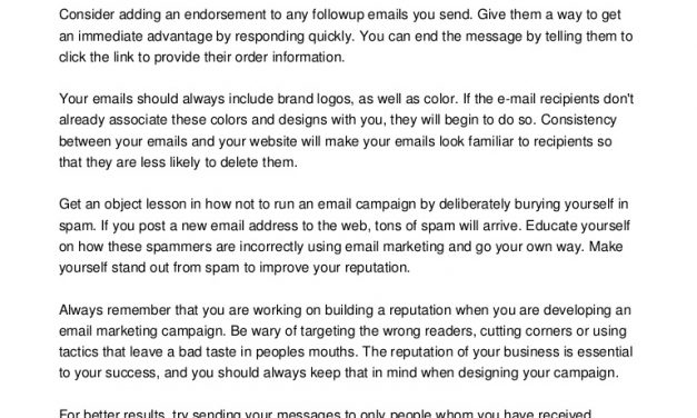 Looking For Professional E-Mail Marketing Tips? Try These!