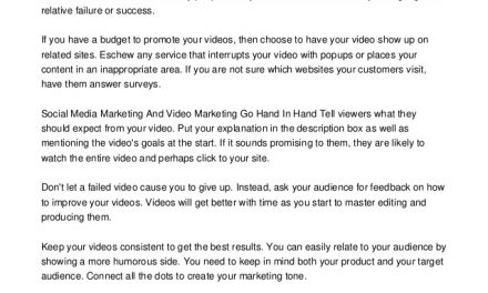 Take Advantage Of Video Marketing With These Tips