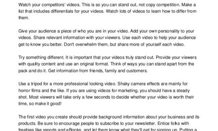 Use Video Marketing To Promote Your Products And Services