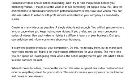 Video Marketing Tips To Help You Become Successful