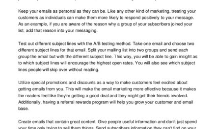 Excellent Advice For Helping You Learn About E-mail Marketing