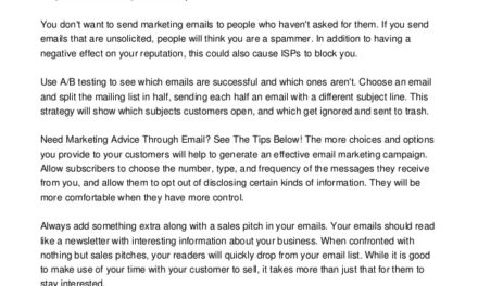 You've Come To The Right Place For Excellent Email Marketing Advice