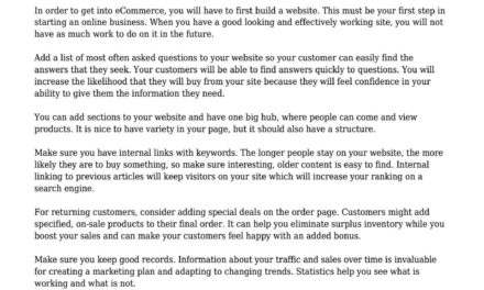 Improve Traffic And Sales With These Article Advertising Suggestions