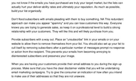 Perfectly Practical Email Promoting Tips And Tricks