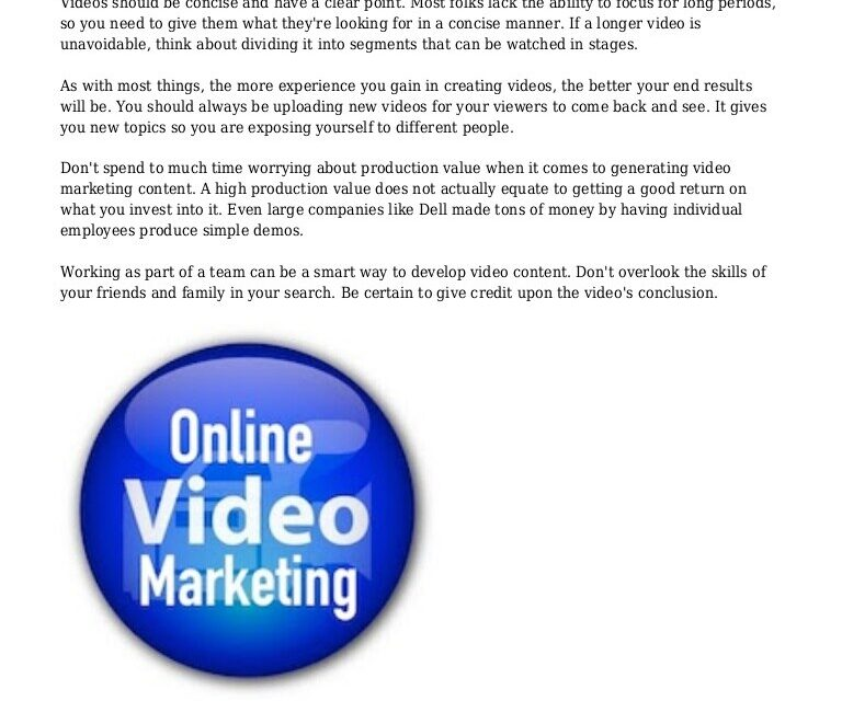 Turn Video Marketing From Fear To Success