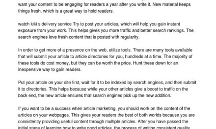Article Advertising Works! Find Out How With These Great Tips